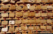 Travel photography:Wooden wishboards at Tokyo`s Yasukuni shrine, Japan