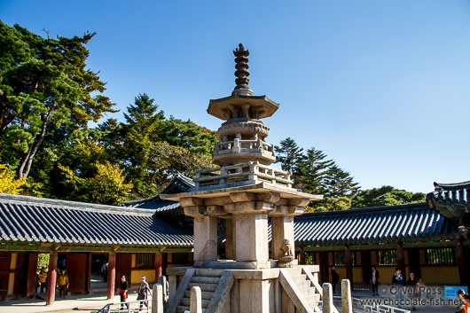 Central stone pagoda at Bulguksa Temple