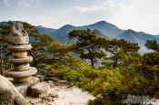 Travel photography:Seated stone Buddha at Yongjangsa in the Namsan mountains, South Korea