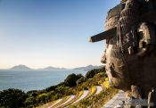 Travel photography:Sculpture on Camellia Island, South Korea