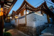 Travel photography:Street in Seoul`s Bukchon Hanok village, South Korea