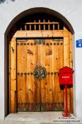 Travel photography:Seoul Bukchon Hanok village door, South Korea