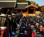 Travel photography:Ceremony performed at the Jongmyo Royal Shrine in Seoul, South Korea