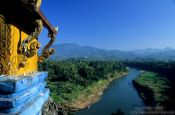 Travel photography:Mekong tributary viewed from Wat Thammothayalan in Luang Prabang, Laos
