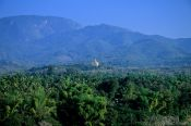 Travel photography:View of the Golden Temple from Wat Thammothayalan in Luang Prabang, Laos
