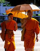 Travel photography:Buddhist monks in Luang Prabang, Laos