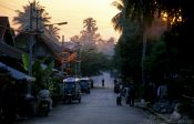 Travel photography:Street in the old quarter of Luang Prabang, Laos