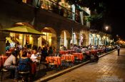 Travel photography:Nightlife on the main square in Oaxaca, Mexico