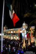 Travel photography:Boca del Rio Independence day celebrations with `el grito`, Mexico