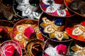 Travel photography:Chichen Itza sombreros for sale, Mexico