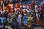 Travel photography:Town festival in Oaxaca, Mexico