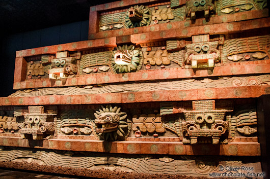 The Pyramid of the Feathered Serpent at the Mexico City Anthropological Museum