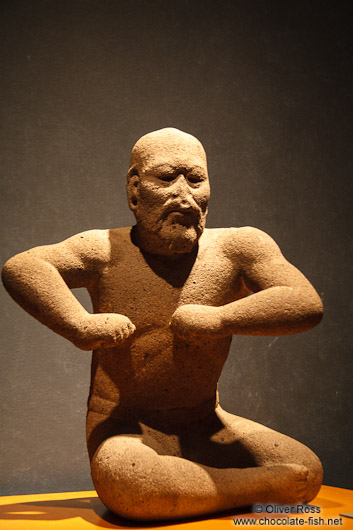 Olmec wrestler at the Mexico City Anthropological Museum