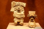 Travel photography:Small figures at the Mexico City Anthropological Museum, Mexico