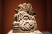 Travel photography:Sculpture of Xiuhcóatl at the Mexico City Anthropological Museum, Mexico