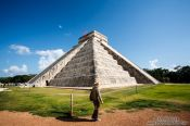 Travel photography:The main pyramid at the Chichen Itza archeological site, Mexico