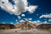Travel photography:Moon pyramid at the Teotihuacan archeological site, Mexico