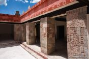Travel photography:Restored house at the Teotihuacan archeological site, Mexico