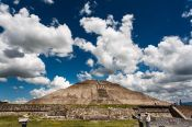 Travel photography:Pyramid of the sun at the Teotihuacan archeological site, Mexico