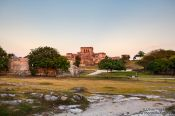 Travel photography:Tulum archeological site at dusk, Mexico