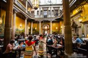Travel photography:Interior of the Casa de los azulejos, Mexico