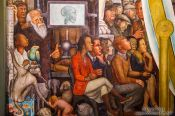 Travel photography:Mural by Diego Rivera entitled `El hombre en la encrucijada` (man at the crossroads) at the Palacio de Bellas Artes, Mexico