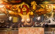 Travel photography:Mural entitled `La Nueva Democracia` by David Alfaro Siqueiros inside the Palacio de Bellas Artes, Mexico