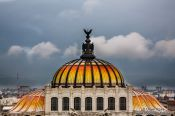 Travel photography:Cupola of the Palacio de Bellas Artes, Mexico