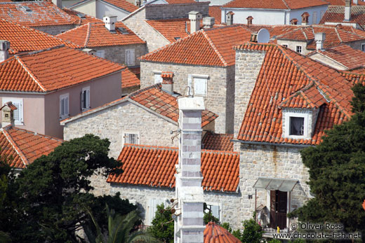 Terracotta rooftops in Budva