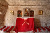 Travel photography:Small altar inside the Cetinje monastery, Montenegro