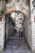 Travel photography:Small alley in Kotor, Montenegro