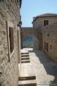 Travel photography:Street in Ulcinj old town, Montenegro