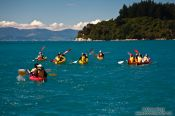 Travel photography:Sea kayaking in the Abel Tasman National Park, New Zealand
