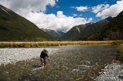 Travel photography:Crossing Travis River at Lake Rotoiti, New Zealand