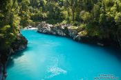 Travel photography:Turquoise glacier water in Hokitika Gorge, New Zealand