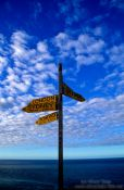 Travel photography:Cape Reinga signpost, New Zealand