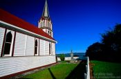Travel photography:Church near Kohukohu (Northland), New Zealand
