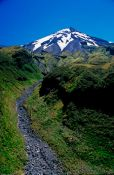 Travel photography:View of Mt Taranaki with gorge, New Zealand
