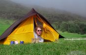 Travel photography:Camping in Topotupotu Bay near Cape Reinga, New Zealand
