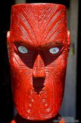 Travel photography:Maori sculpture near Whanganui, New Zealand