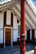 Travel photography:Maori meeting house on a Marae near Whanganui, New Zealand