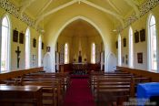Travel photography:Inside a church near Whanganui, New Zealand