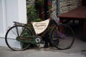 Travel photography:Old bicycle in Arrowtown, New Zealand