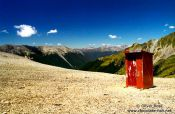 Travel photography:Toilet on Mt. Angelm, New Zealand