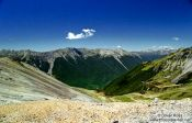Travel photography:Nelson Lakes panorama, New Zealand