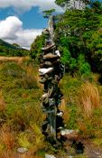Travel photography:Hikers pole on the Heaphy Track, New Zealand
