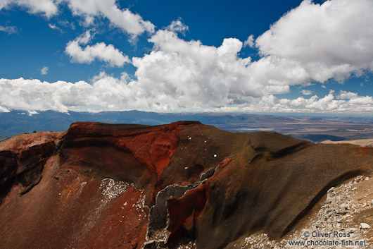 The Red Crater in Tongariro National Park