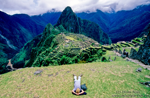 Taking a nap at Machu Picchu