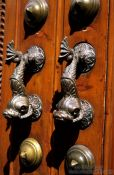 Travel photography:Detail of door in Arequipa, Peru