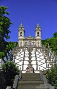 Travel photography:The Sanctuary of Bom Jesus do Monte in Braga with staircase, Portugal